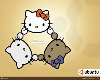 Hello Kitty meets Ubuntu